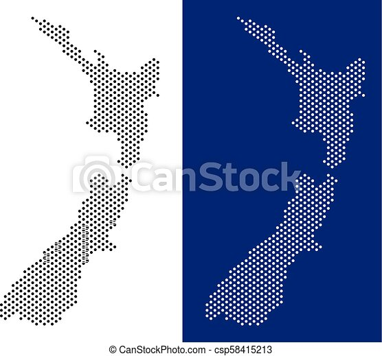 Dotted new zealand map. Dot new zealand map. vector geographic map ...