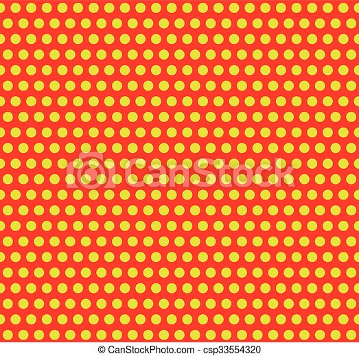 dotted pop art polka dot background yellow red repeatable pattern with circles