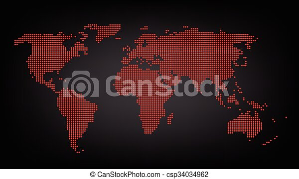 Dotted red world map background vector dotted red world map background vector gumiabroncs Choice Image