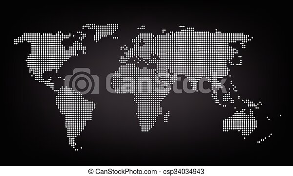Dotted red world map background vector eps vector search clip art dotted red world map background vector gumiabroncs Gallery