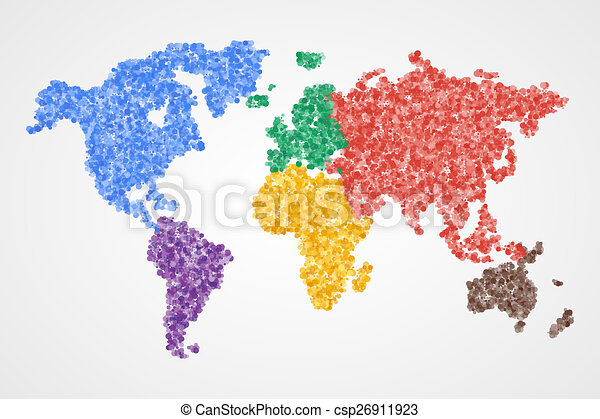 Dotted round world map abstract illustration dotted round clip dotted round world map abstract illustration gumiabroncs Images