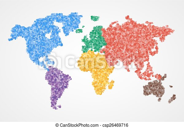 Dotted round world map abstract dotted round colorful vector dotted round world map abstract csp26469716 gumiabroncs Image collections