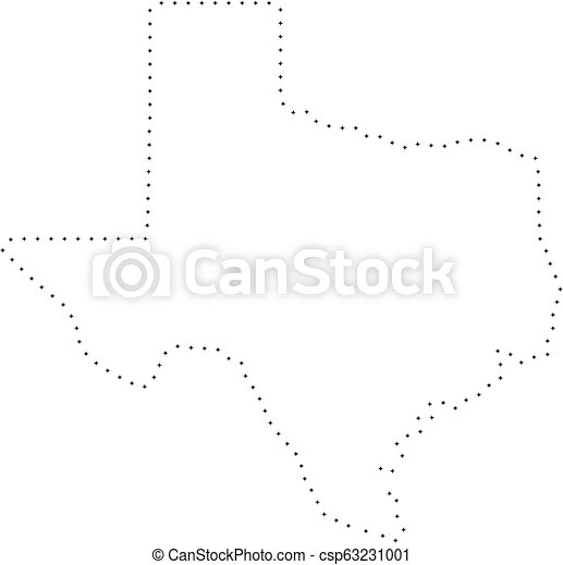 Map Of Texas Quiz.Dotted Stroke Texas State Map