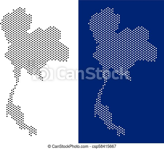 Dotted thailand map. Dotted thailand map. vector geographic map on ...