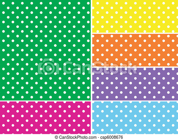 Dotted Vector Swatches in 6 Colors - csp6008676