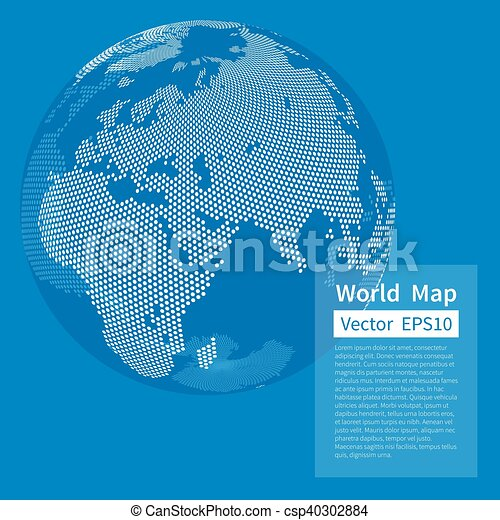 Dotted world map background earth globe globalization concept dotted world map background earth globe globalization concept white and blue vector gumiabroncs Choice Image