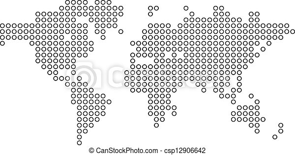 Dotted world map vector illustration gumiabroncs Choice Image