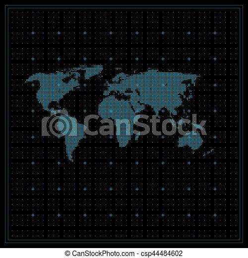 Dotted world map global communication vector dotted world map global communication csp44484602 gumiabroncs Image collections