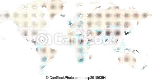 Dotted world map of square dots on white background vector eps dotted world map of square dots csp39186394 publicscrutiny Gallery