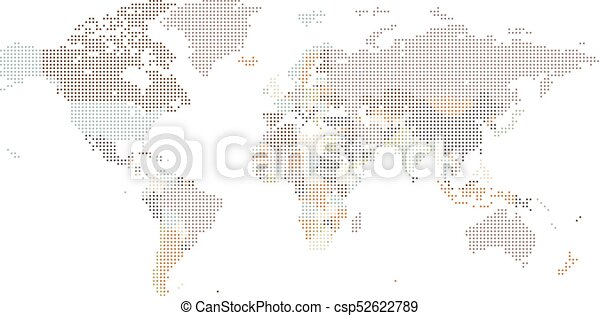 Dotted world map of square dots on white background vector dotted world map of square dots on white background vector illustration gumiabroncs Image collections