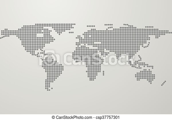 Dotted world map on gray gradient background world map from black dotted world map on gray gradient background world map from black dots dots in shape of world map with continents gumiabroncs Choice Image
