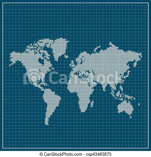Dotted world map over blue background vector illustration vectors dotted world map over blue background csp43483870 gumiabroncs Images