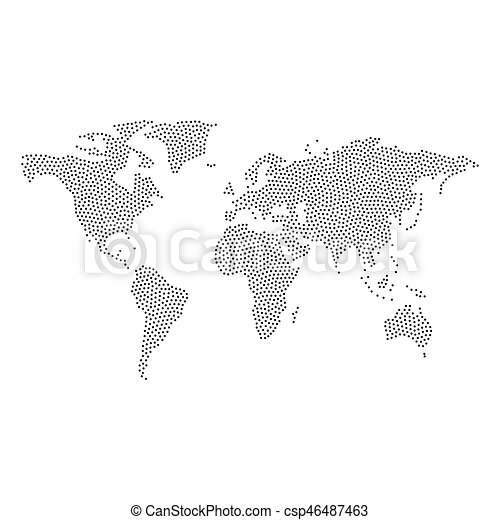 Dotted world map vector abstract world map with dots gumiabroncs Image collections
