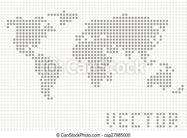 Dotted world map, connection concept. vector illustration.