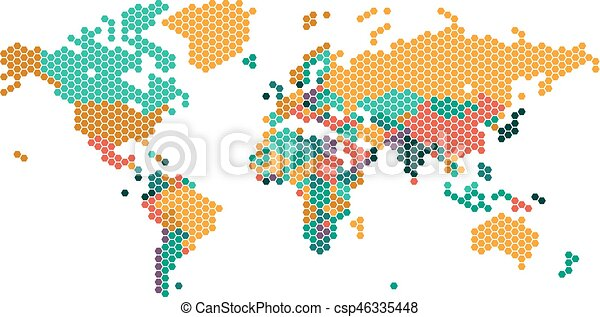 Dotted world map with countries borders global business eps dotted world map with countries borders csp46335448 gumiabroncs Images