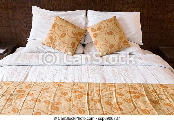 double bed in bedroom - csp8908737