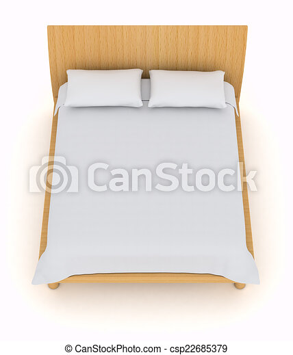 double bed top view. Double Bed - Csp22685379 Top View U