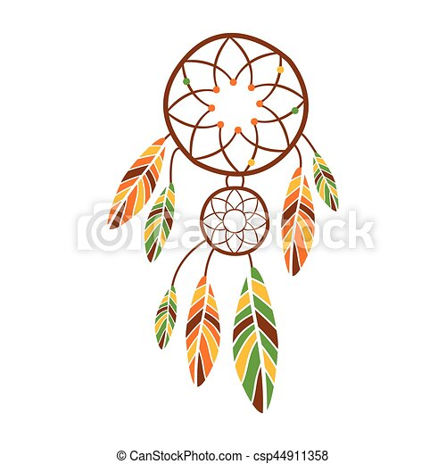 double dream catcher with feathers native indian culture inspired