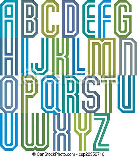 Double line geometric font