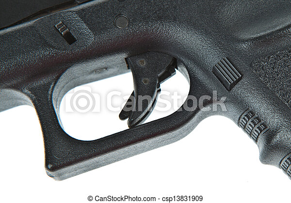 Double lock safety trigger for airsoft hand gun, glock model