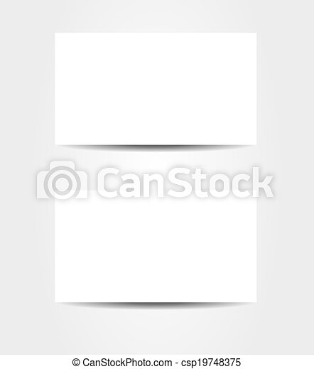 Double Sided Business Card Template Isolated Double Sided Business