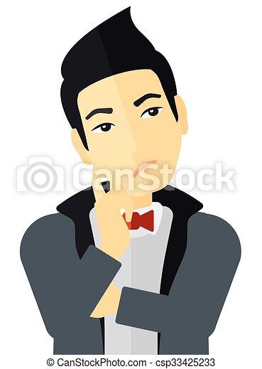 Doubtful young man. - csp33425233