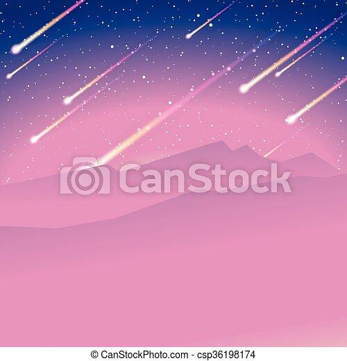 douche, météore, fond - csp36198174