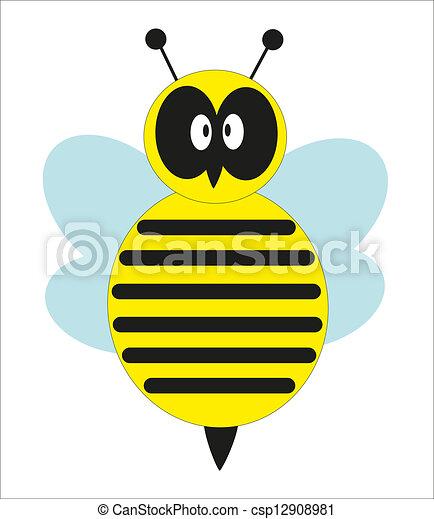 douche, mignon, vecteur, bee., bébé - csp12908981
