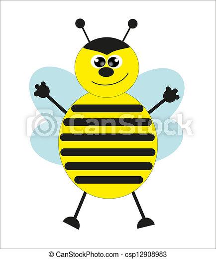 douche, mignon, vecteur, bee., bébé - csp12908983
