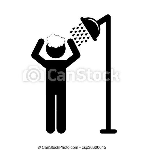 Douche prendre homme illustrateur prendre douche vecteur eps rechercher des clip art - Comment prendre une douche rapidement ...