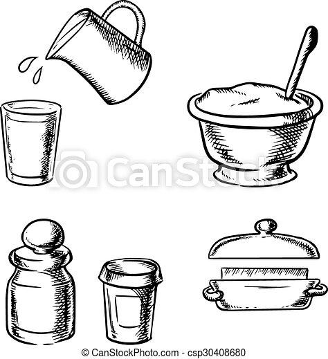 Dough Butter Milk Flour And Spices 30408680