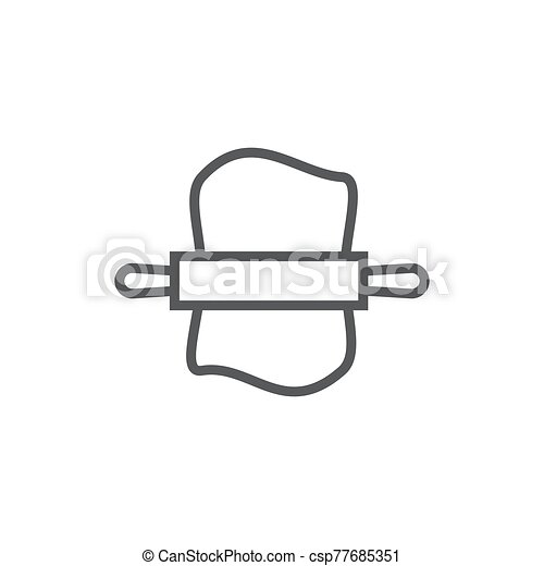 Dough line icon on white background - csp77685351