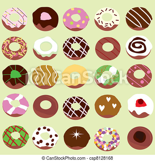 Doughnut Background For Birthdays Party Food Industry And Others