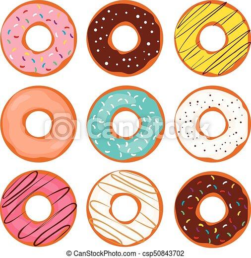 Doughnut Colorful Collection - csp50843702