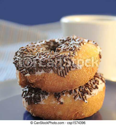 doughnuts with chocolate sprinkles - csp1574396