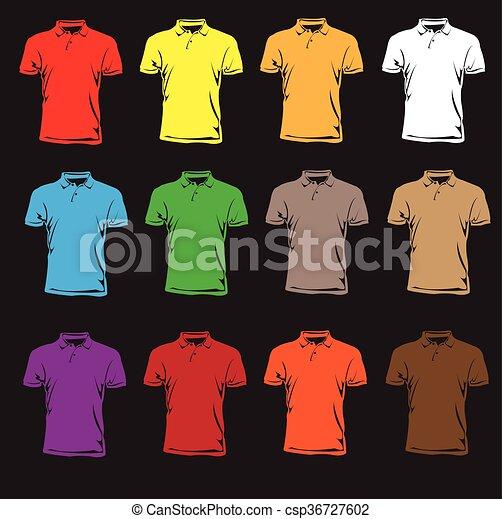 douilles courtes, t-shirts. - csp36727602