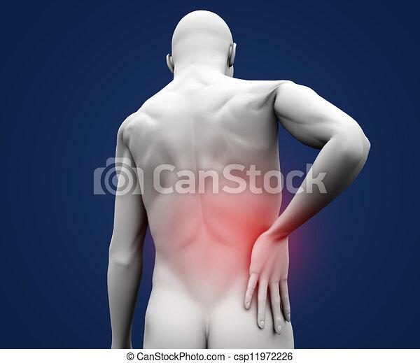 douleur, avoir, figure, numérique - csp11972226