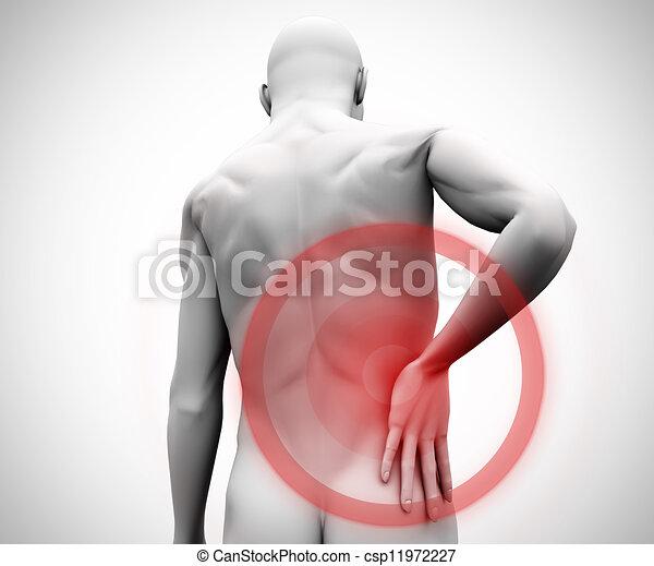douleur, figure, numérique, dos - csp11972227