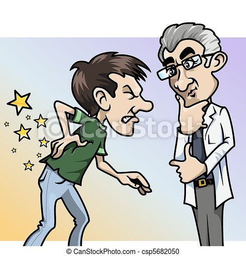 douleur, quel, doctor!, ouch! - csp5682050