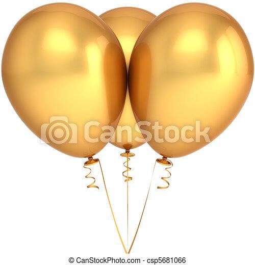 dourado, balões, partido - csp5681066