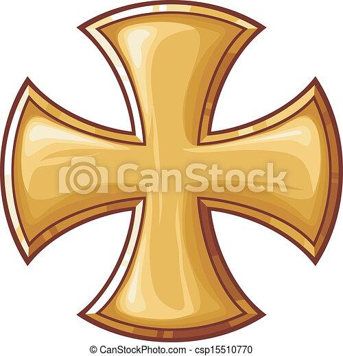 dourado, crucifixos - csp15510770