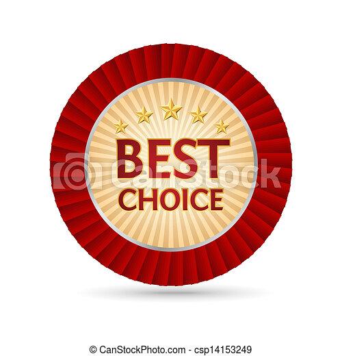 dourado, escolha, melhor, etiqueta - csp14153249