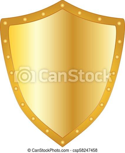 dourado, escudo - csp58247458