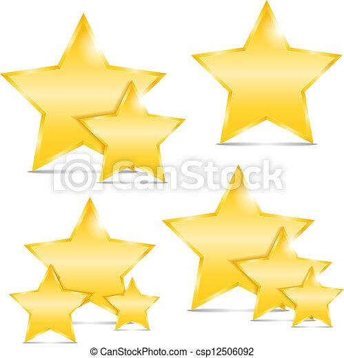 dourado, estrelas - csp12506092