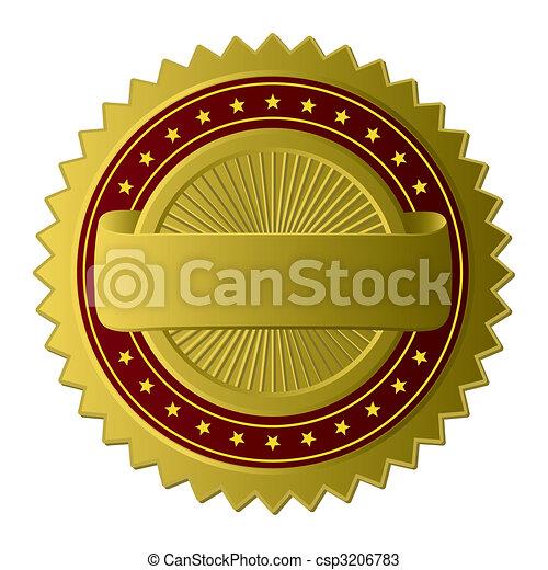 dourado, etiqueta, (vector) - csp3206783