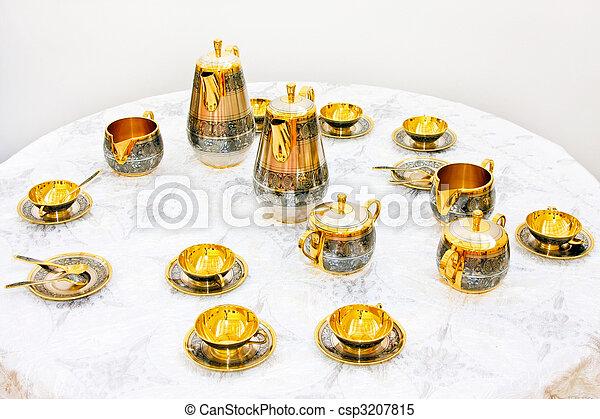 dourado, jogo, chá - csp3207815