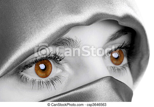 dourado, olhos - csp3646563