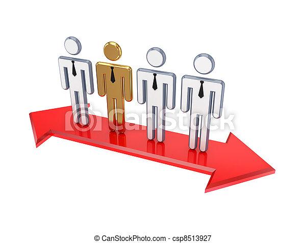 dourado, pessoas, um, pequeno, habitual, 3d - csp8513927