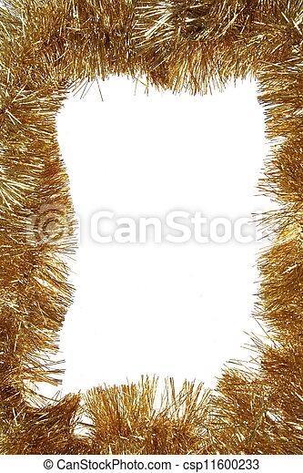 dourado, quadro, cópia, natal, espaço - csp11600233