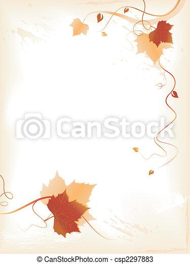 dourado, redemoinhos, foliage, abstratos, fundo, vermelho - csp2297883